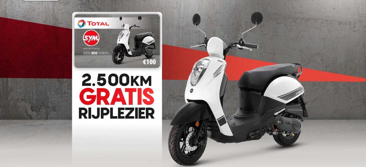 SYM Mio 50i + € 100, - Gratis tanken